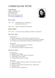 Cv Pattern Best Cv Format For Jobs Seekers