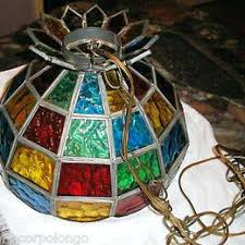 stain glass hanging lights vintage stained glass hanging lamp stained glass hanging lamps for