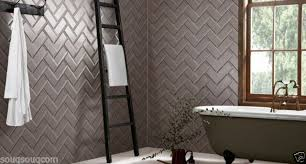 dark grey gloss metro victorian bevelled brick kitchen wall tiles 10 x 20cm