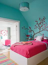 Home Design  Bedroom Girls Blue Curtains Adorable Simple For Simple Room Designs For Girls