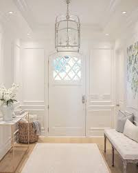lighting for halls. White Foyer With Paneled Walls, Oak Floors And Circa Lighting Arched Top Lantern. For Halls B