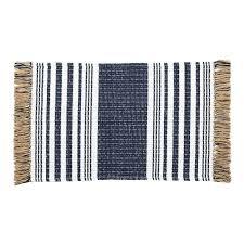 jute rug with fringe navy stripe woven jute throw rug jute rug fringe