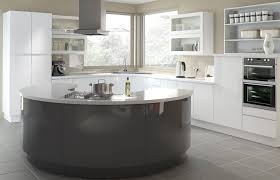 high gloss white and high gloss anthracite kitchen picture