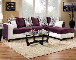 American Contemporary Furniture Striking Two Toned Couchchaise Implosion Purple 2 Pc Sectional