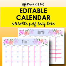 month template 2018 monthly calendar editable template planner printable calendar