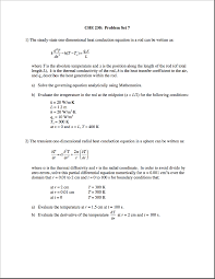 partial diffeial equations che 230 problem set 7 1 the steady state one dimensional heat