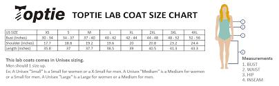 Unisex Lab Coat Size Chart Toptie Unisex Classic Lab Coat Lab Scrub