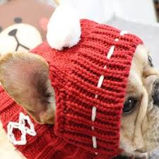 Winter Pet Hat Christmas Dog Cap Fat Large Dog Hats for ... - Vova