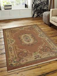 rugsotic carpets hand knotted aras woolen oriental area rug rose cream