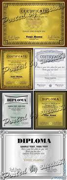 Векторный клипарт Дипломы и сетификаты  Шаблоны сертификатов и дипломов в векторе certificate diploma templates 7