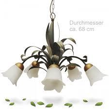 Floraler Metall Luster Mit üppigen Blättern In Grün Gold