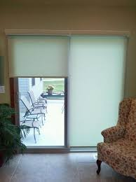 pull down shades for sliding glass doors roller