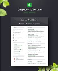 Resume Free Template 130+ New Fashion Resume / CV Templates For Free Download - 365 Web ...