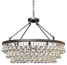 celeste 32 glass drop crystal chandelier black