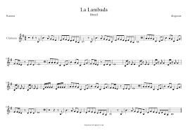 diegosax: La Lambada de Kaoma Partitura de Flauta, Violín, Saxofón Alto,  Trompeta, Viola, Oboe, Clarinete, Saxo Tenor, Soprano Sax, Trombón,  Fliscorno, chelo, Fagot, Barítono, Bombardino, Trompa o corno, Tuba... ,  Llorando se