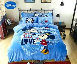 flannel bedding sets blue mickey mouse printed flannel bedding set twin full queen size bed covers flannel bedding sets