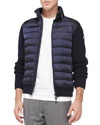 Lyst - Moncler Quilted-Front Zip Sweater in Blue for Men & Gallery Adamdwight.com