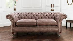 chesterfield sofa leather 2 person brown drummond