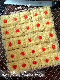 Just My Ordinary Kitchen Cake Potong Pandan Keju For Abi