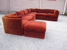 curved seven piece signed milo baughman sectional sofa mid century modern for