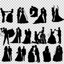 Wedding Invitation Silhouette Png Clipart Art Black And White