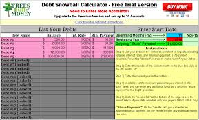 debt snowball calculator free free debt snowball calculator program for excel budget debt