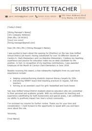 Example Teacher Cover Letters Elementary Teacher Cover Letter Example Writing Tips