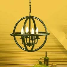 vineyard orb 4 light chandelier vineyard orb 4 light chandelier light antique black metal strap globe