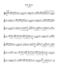 Permission granted for instruction, public performance, or just for fun. Violin Sheet Music Fur Elise Beethoven