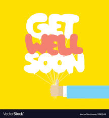 Get Well Soon Poster Get Well Soon Balloons Motivation Card