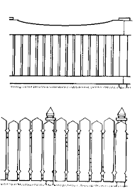 picket fence drawing. Drawing A Picket Fence Picket Fence Drawing