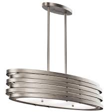 kichler 43303ni roswell contemporary brushed nickel finish 7 75 nbsp tall kitchen island light fixture loading zoom