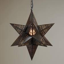 marvelous star hanging light moravian star chandelier large