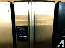 kitchenaid side by side refrigerator ice maker problems refrigerator stainless steel refrigerator for