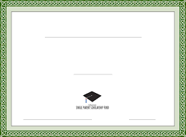 Scholarship Certificate Template Generic Scholarship Certificate Template Free Download