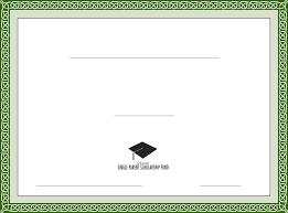 Scholarship Certificate Template Generic Scholarship Certificate Template Free Download