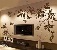 simple wall painting designs for living room wall