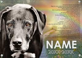 Typ C Gedenkschild Hund Regenbogenbrücke Und Ihrem Hund Kaufen