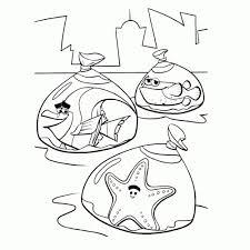 Educatief Spel Van De Kinderen Kleurplaat Met Vissen In Aquarium