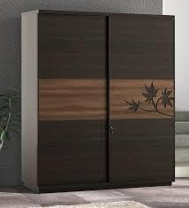 kosmo maple 2 sliding doors wardrobe in fumed oak melamine finish by spacewood