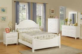 painted wood twin bed