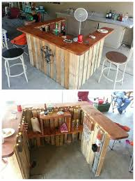 Bar Made Out Of Pallets Only Two Pallets Made This Totally Tubular Surf Themed Backyard