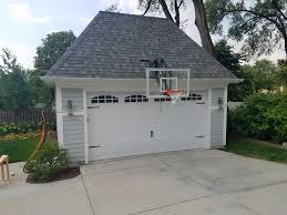 roofmaster adjule roof mount slam dunk hoops basketball hoop over garage d65