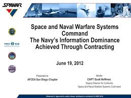 Ppt Space And Naval Warfare Systems Command The Navys