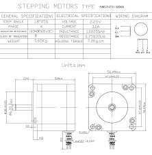 buildyourcnc nema 23 stepper motor (100 oz in) 3 0 amps stepper motor wiring 4 wires at Nema 23 Stepper Motor Wiring Diagram