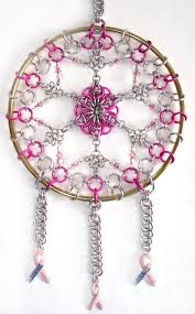 Breast Cancer Dream Catcher Cool Breastcancer Dreamcatcher From Blue Buddha Wow CHAINMAILLE