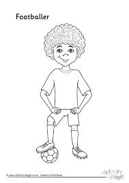 Soccer Colouring Pages Football Players Coloring Player Messi P