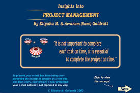 Insights Toc Project And Engineering Goldratt Into Management Marketing