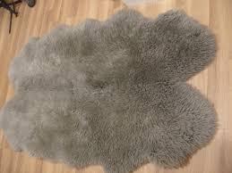 large quad grey mink 100 sheepskin rug from dunelm rrp 149