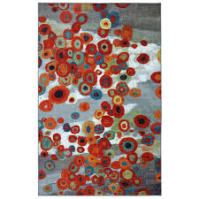 mohawk home tossed fl multi 5 ft x 8 ft area rug 395674 the home depot